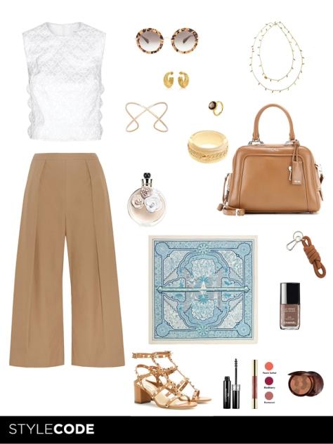 Propuesta de estilismo para Marie Claire edición digital tendencia culotte.